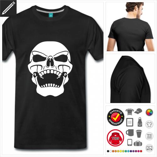 schwarzes Totenkopf T-Shirt personalisieren