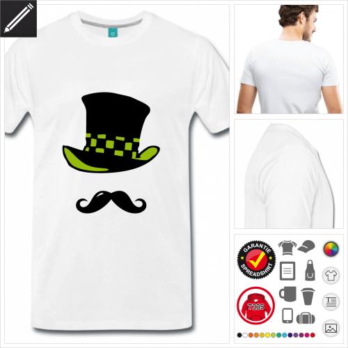 basic Schnurrbart T-Shirt online gestalten