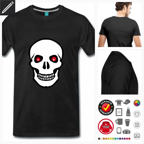 schwarzes Totenkopf T-Shirt zu gestalten