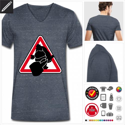 Männer Nerd T-Shirt selbst gestalten