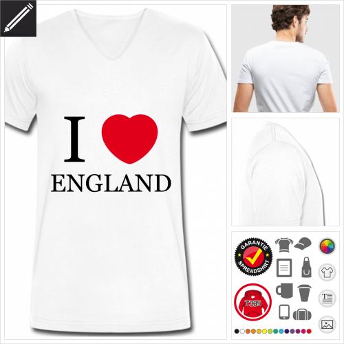 Vereinigtes Königreich T-Shirt selbst gestalten
