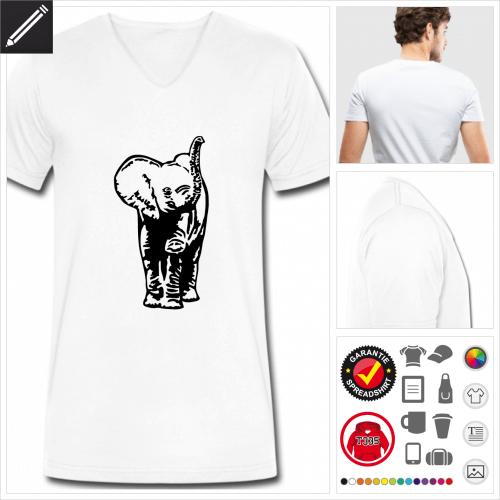 basic Elefanten T-Shirt selbst gestalten. Online Druckerei