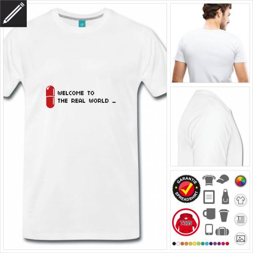 graues Zitat T-Shirt online Druckerei, höhe Qualität
