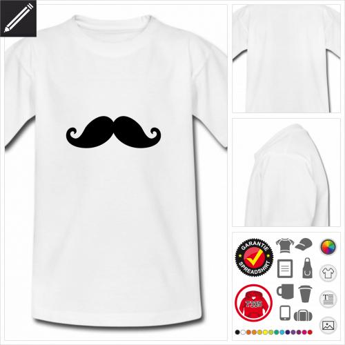 Kinder Schnurrbart T-Shirt personalisieren