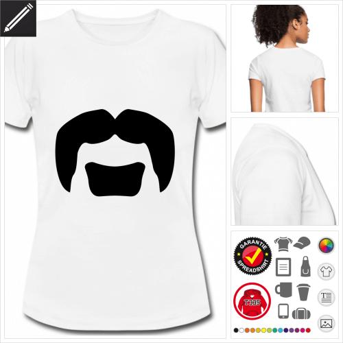 Moustache T-Shirt online zu gestalten