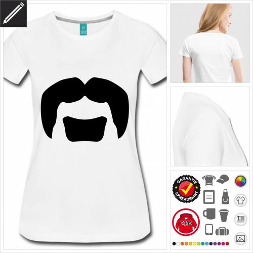 basic Schnurrbärte T-Shirt online gestalten