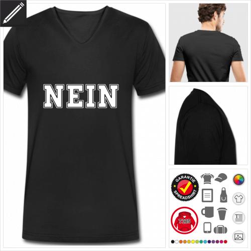 Witzige Sprüche Kurzarmshirt selbst gestalten. Online Druckerei