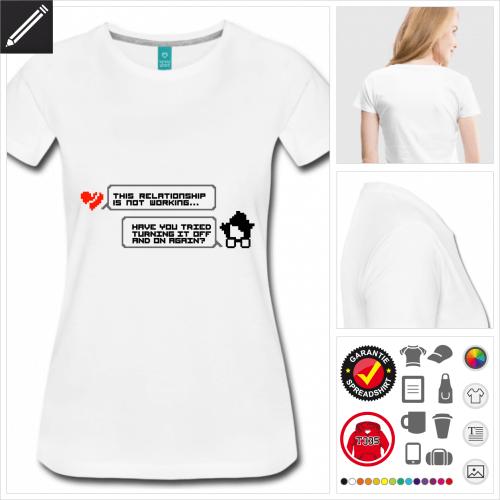 schwarzes Programierung T-Shirt online Druckerei, höhe Qualität