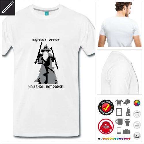 Männer Gandalf T-Shirt online gestalten