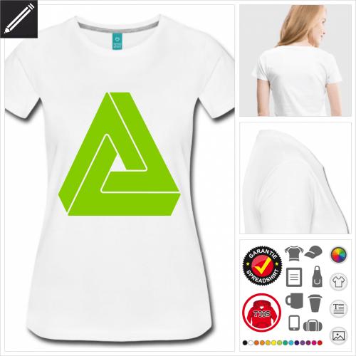 Frauen Dreieck T-Shirt online Druckerei, höhe Qualität