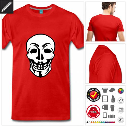 rotes Anonymous T-Shirt online zu gestalten