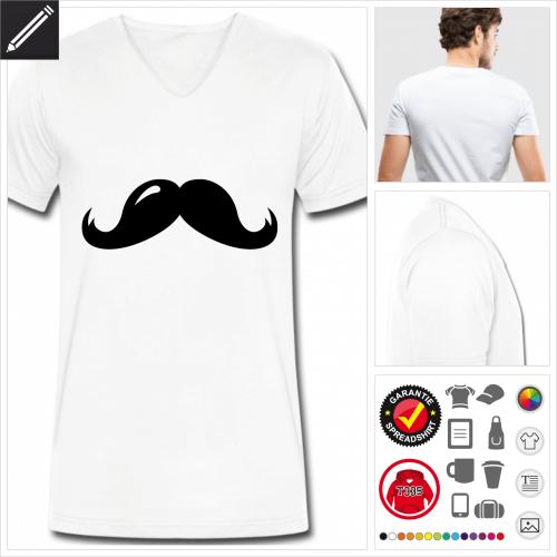 Oberlippenbart T-Shirt selbst gestalten