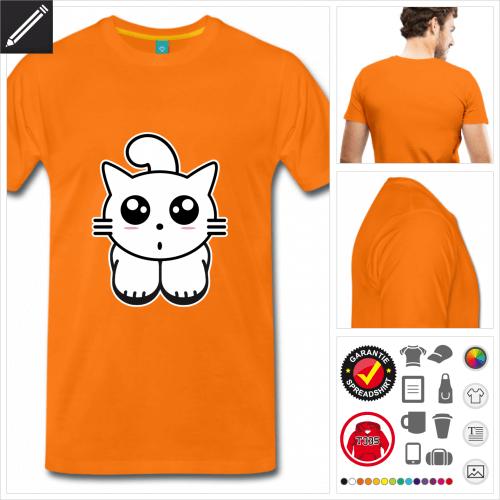 premium Katzen T-Shirt zu gestalten