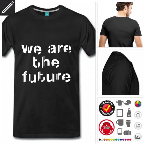 oranges Männer Future T-Shirt online gestalten