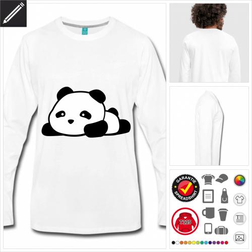 Panda T-Shirt für Männer personalisieren