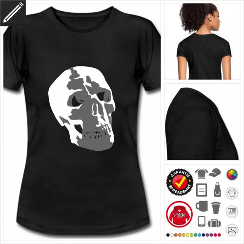schwarzes Pirat T-Shirt selbst gestalten