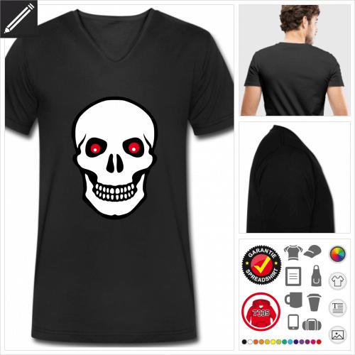 Schädel T-Shirt für Männer personalisieren