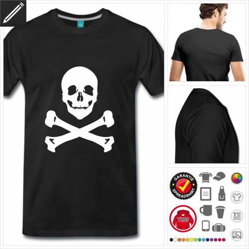 Männer Piratenflagge T-Shirt selbst gestalten