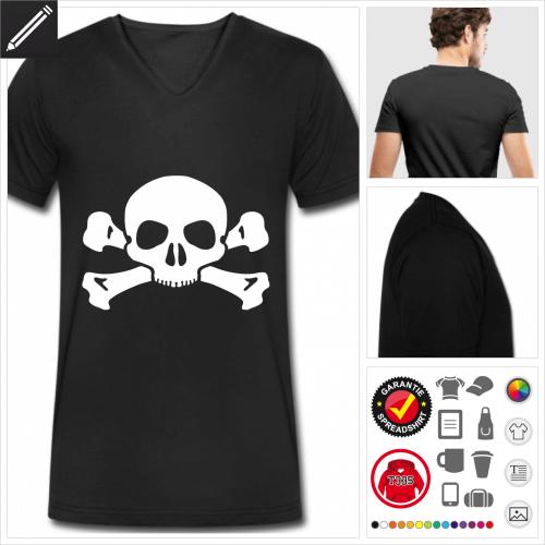 Piratenflagge T-Shirt zu gestalten