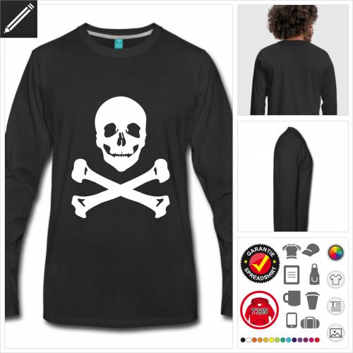 Piraten Langarmshirt personalisieren
