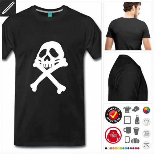 basic Totenkopf T-Shirt online Druckerei, höhe Qualität