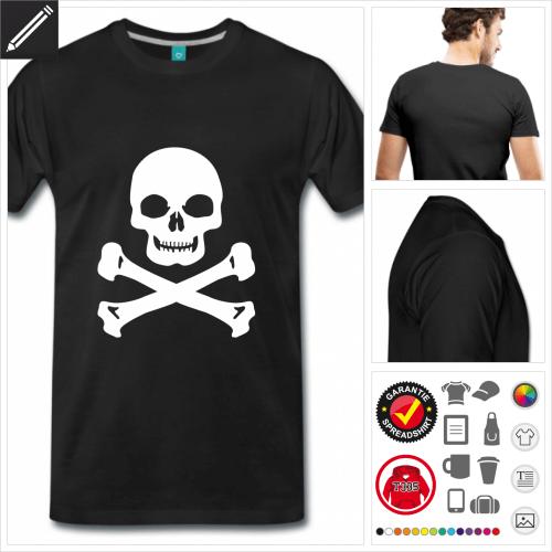 Männer Schädel T-Shirt selbst gestalten