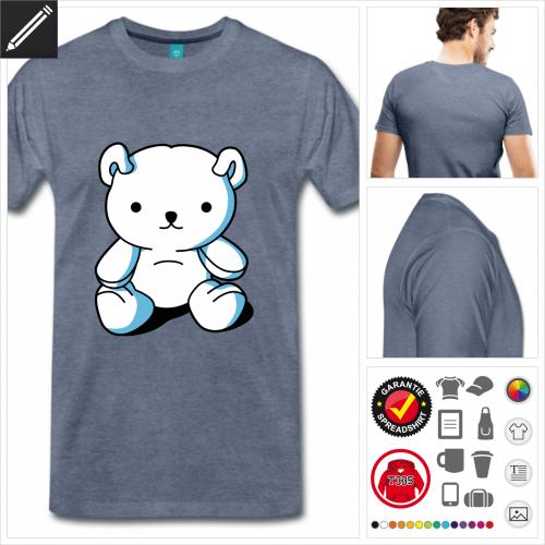 Männer Kawaii Teddybär T-Shirt personalisieren