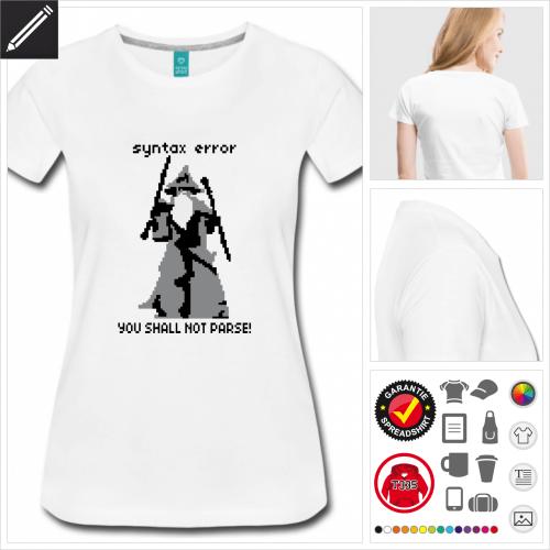 Frauen Nerd T-Shirt personalisieren