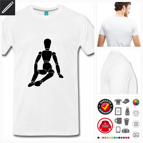 basic Gliederpuppe T-Shirt online gestalten