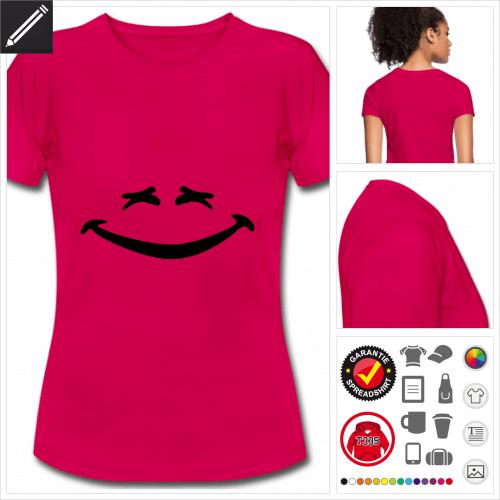 purpurrotes Lachen T-Shirt selbst gestalten. Online Druckerei