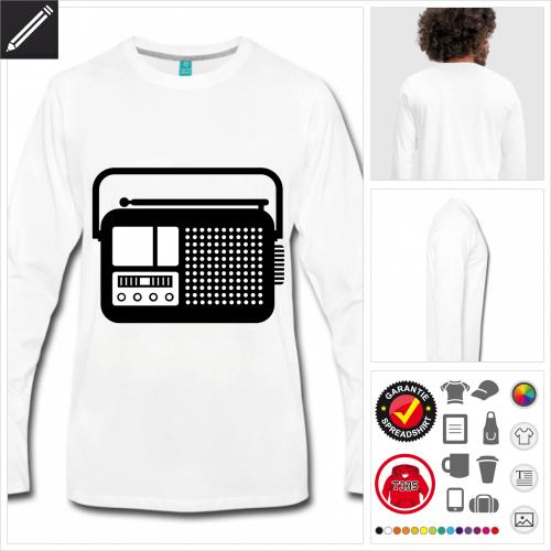 graues Radiogerät T-Shirt selbst gestalten
