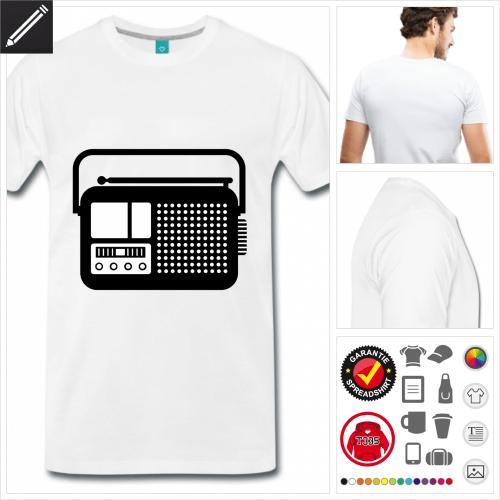 Radio T-Shirt selbst gestalten. Online Druckerei
