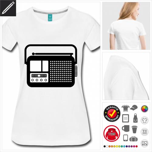 Frauen Radiogerät T-Shirt zu gestalten