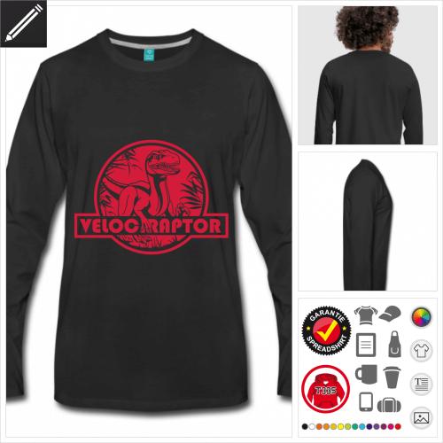 Velociraptor T-Shirt zu gestalten