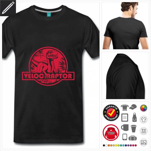 Männer Velociraptor T-Shirt zu gestalten