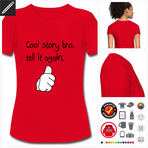 Frauen Thumbs up T-Shirt personalisieren