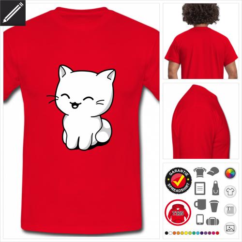 rotes Kätzchen T-Shirt online zu gestalten