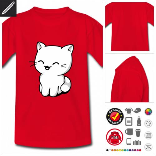 Kinder Kätzchen kawaii T-Shirt selbst gestalten. Online Druckerei