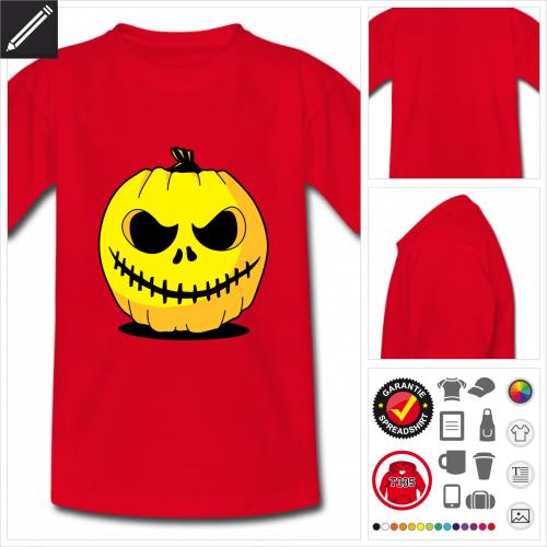 basic Halloween T-Shirt selbst gestalten. Online Druckerei