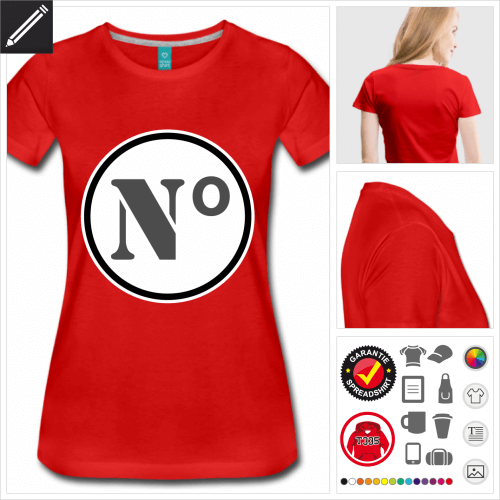 Ziffer T-Shirt online gestalten