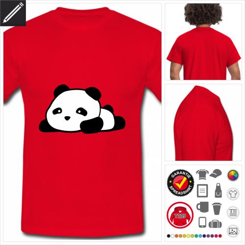basic Panda T-Shirt selbst gestalten. Online Druckerei