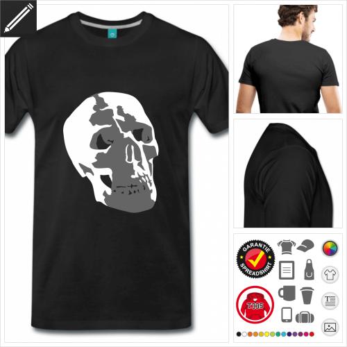basic Totenkopf T-Shirt online zu gestalten