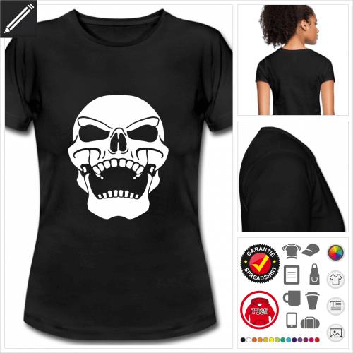 schwarzes Piraten Schädel T-Shirt online zu gestalten