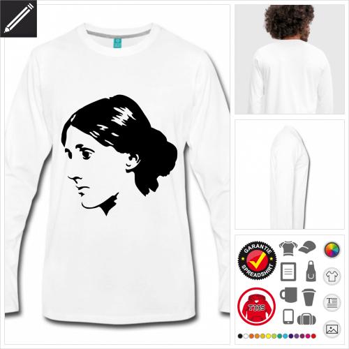 Virginia Woolf T-Shirt online Druckerei, höhe Qualität