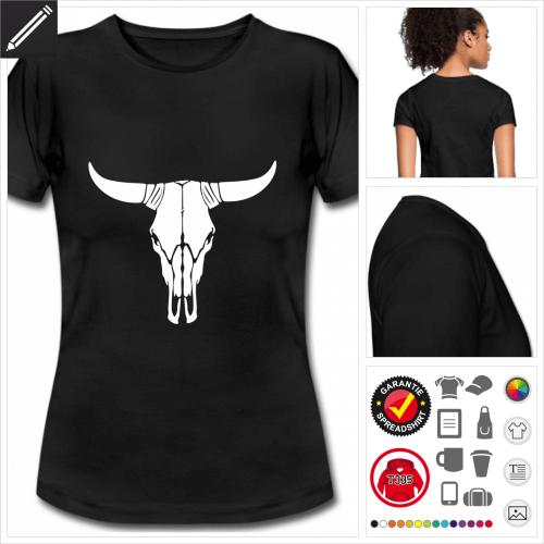schwarzes Amerika T-Shirt gestalten, Druck ab 1 Stuck