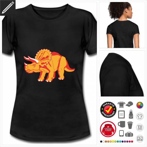 basic Dinosaurier T-Shirt selbst gestalten. Druck ab 1 Stuck