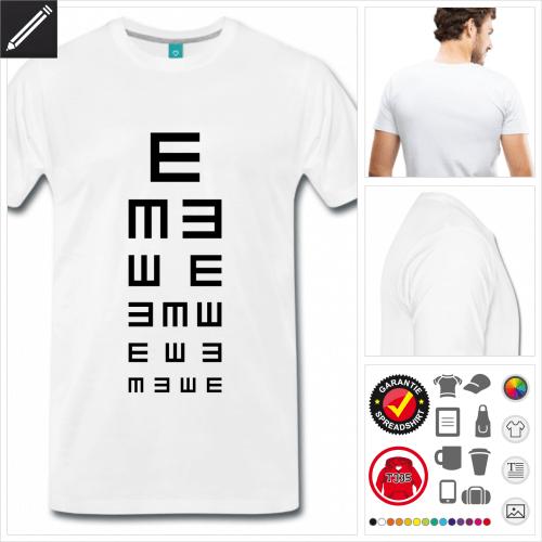 Männer Seh T-Shirt gestalten, Druck ab 1 Stuck