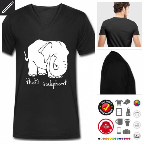 schwarzes Worstpiel T-Shirt online zu gestalten