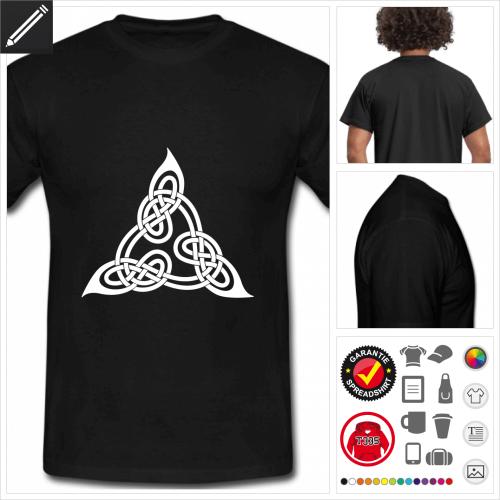 schwarzes Keltisches T-Shirt selbst gestalten