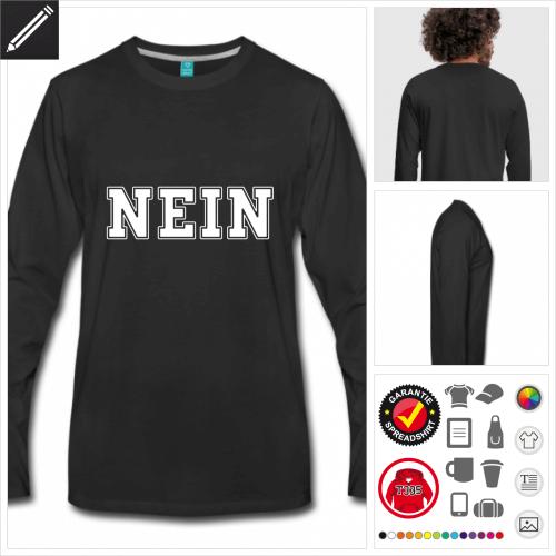 Nein T-Shirt online gestalten